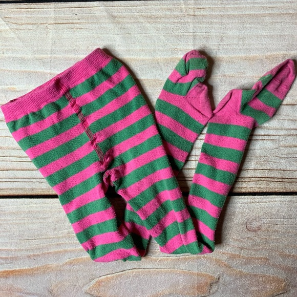 Hanna Andersson Other - Hanna Andersson Pink and green striped tights